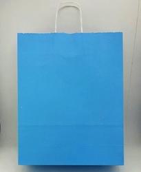 - 32x40 Büküm Saplı Çanta 25'li Mavi