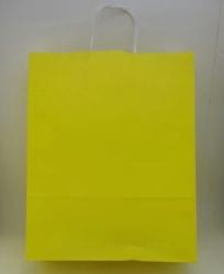 - 32x40 Büküm Saplı Çanta 25'li Sarı