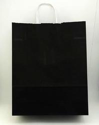 - 32x40 Büküm Saplı Çanta 25'li Siyah