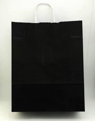 32x40 Büküm Saplı Çanta 25'li Siyah