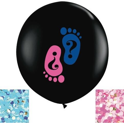 - 36 inç Jumbo Renkli Cinsiyet Balon