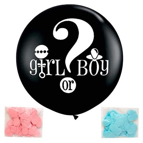 - 36 inç Jumbo Siyah Renk Cinsiyet Balon