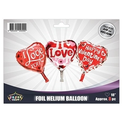 - 3lü Set Kalp I love You Folyo Balon