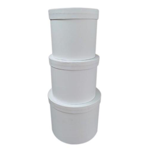 - 3'lü Silindir Kutu Beyaz