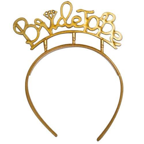 Bride To Be Gold Plastik Taç