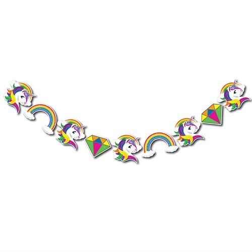 - Dekoratif Simli Banner Unicorn