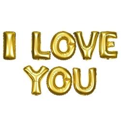- Gold I Love You Folyo Balon