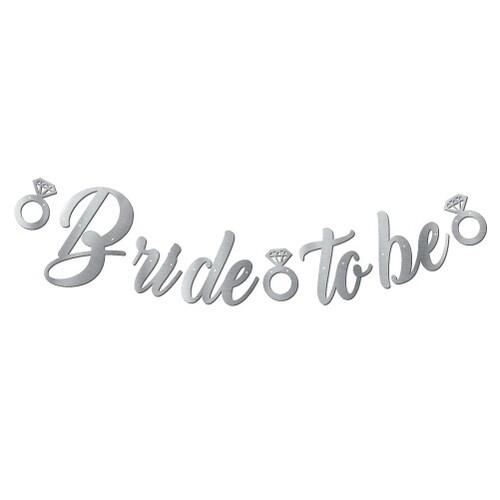 - Kaligrafi Banner Gümüş Bride To Be