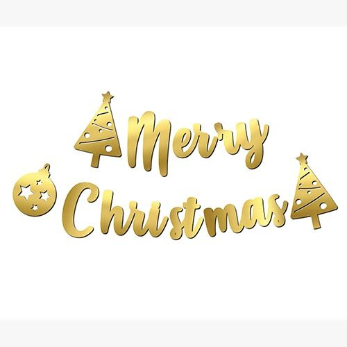 Kaligrafi Banner Merry Christmas