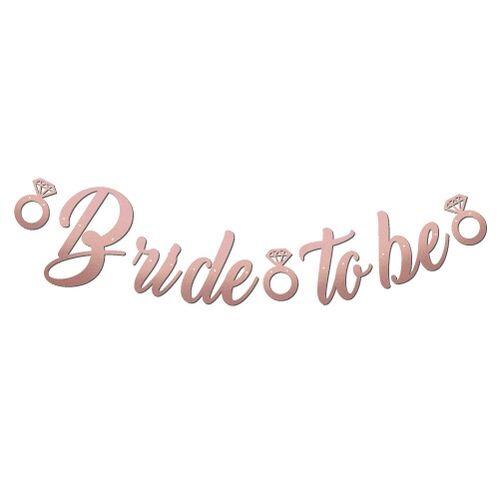 Kaligrafi Banner Rose Bride To Be