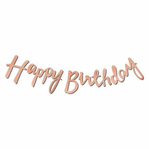 Kaligrafi Banner Rose Happy Birthday
