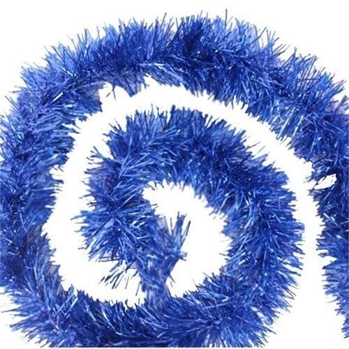 - Kalın Sim Süs Mavi 8 cm 2 Mt