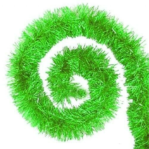- Kalın Sim Süs Yeşil 8 cm 2 Mt