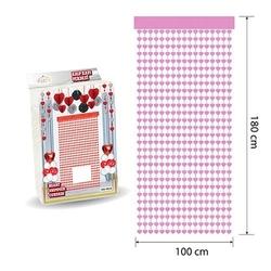 - Kapı Perdesi Kalp Pembe 100*180 cm