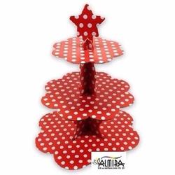- Kırmızı Puantiyeli Kek Standı