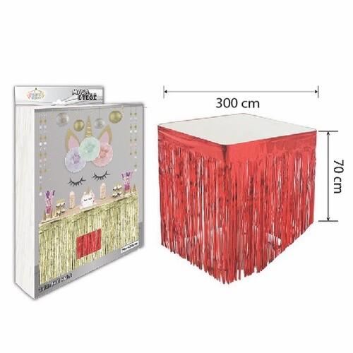 - Masa Eteği Kırmızı 70*300 cm