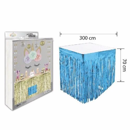 - Masa Eteği Mavi 70*300 cm