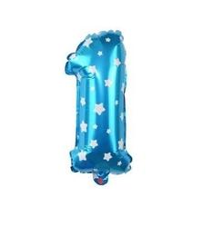 - Mavi 1 Rakam Folyo Balon 16 inç