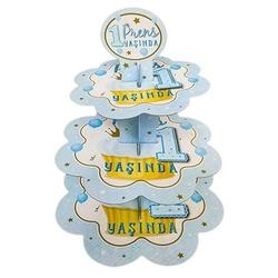 - Mavi 1 Yaş Prens Kek Standı