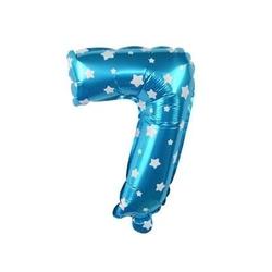 - Mavi 7 Rakam Folyo Balon 16 inç