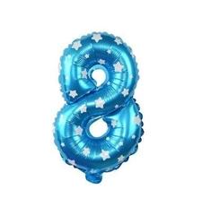 - Mavi 8 Rakam Folyo Balon 16 inç