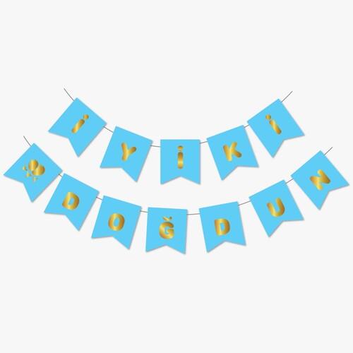 - Mavi Gold Yaldızlı Banner