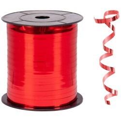- Metallik Kırmızı Rafya Şerit 8 mm x 200 m
