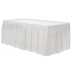 - Plastik Beyaz Masa Eteği