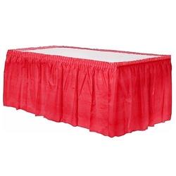 - Plastik Kırmızı Masa Eteği