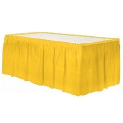 - Plastik Sarı Masa Eteği