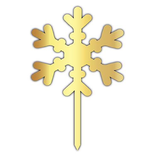 Pleksi Yazı Gold Kar Tanesi