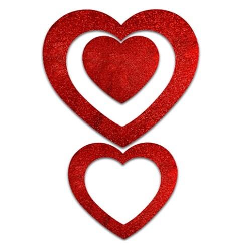 - Strafor 3lü Kalp İçi Boş Dekor