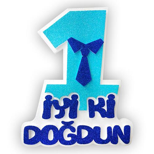 - Strafor Mavi 1 İyi ki Doğdun Kravatlı