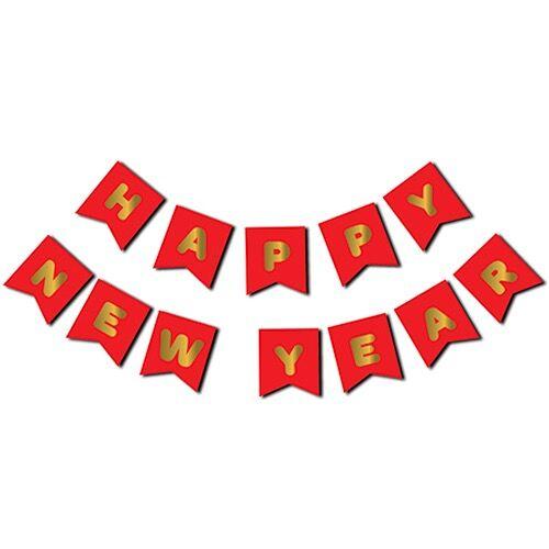 Yılbaşı Happy New Year Yaldızlı Banner