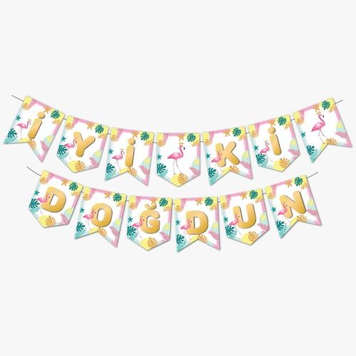 - Zigzag Banner Flamingo